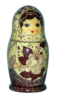 Matryoshka Nesting Doll. http://www.pinterest.com/MatryoshkasSoap/one-of-a-kind-matryoshka/