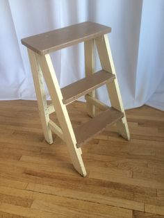 Small wood stool