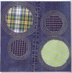 Quilt Inspiration: Free pattern day ! Denim quilts