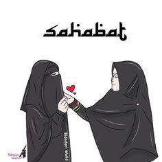 Gambar Kartun Muslimah Bercadar Sahabat Islamic Posters, Islamic Art, Islamic Quotes, Muslim Girls, Muslim Women, Words Quotes, Book Quotes, Novel Wattpad, Muslim Religion