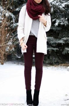 How To Wear Maroon For Deep Winter