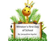 "StoryJumper book - ""Winston's First Day of School""."