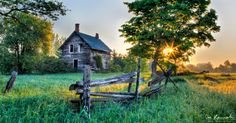 old farm houses | Forgotten Sunrise - Old Farm | Don Komarechka Photography