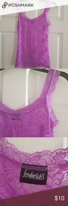 Fredricks lace sleepshirt Purple lace sexy tank style top Frederick's of Hollywood Intimates & Sleepwear Shapewear