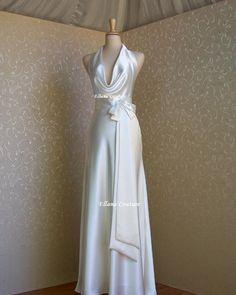 Diana  Elegant and Sexy Wedding Dress. Vintage by EllanaCouture, $395.00