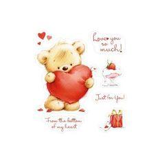Tampon Scrapberry's Dessin ours avec cœur cadeau