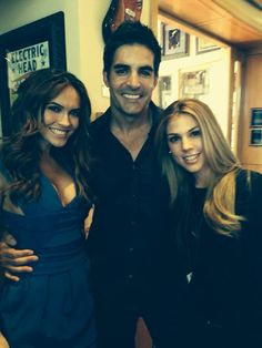 Galen Gering, Chrishelle Stause and Kate Mansi Behind the scenes Days of our Lives Kate Mansi, Elizabeth Roberts, Alison Sweeney, James Scott, Casting Pics, Hey Good Lookin, Young And The Restless, Come And Go, Days Of Our Lives