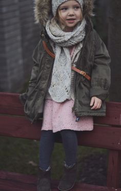 Love this outdoor little girl style - what a cute fashion-ista #KidsFashion #KidsStyle