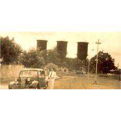Foto antiga das Três Caixas D'águas em Porto Velho, Rondônia, Brasil. Elas foram fabricadas em Chicago (USA) e montadas entre 1910 e 1912.