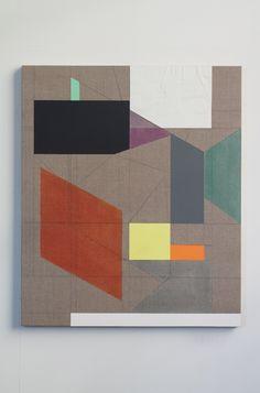 "Andrew Bick [UK] (b 1963)  ~  ""OGVDS-GW#3"", 2013/2014. Acrylic, oil paint…"