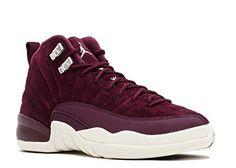 Nike Air Jordan 12 Retro Bordeaux G.S Youth Big Kids Bordeaux/Metallic Silver/Sail 153265-617 (7)