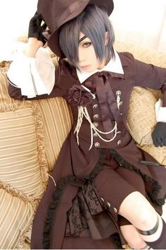 Ciel Phantomhive from Black Butler (Kuroshitsuji) cosplay. Pretty much nailed it. Ciel is, visually, my favorite anime character, hands down. No lie.