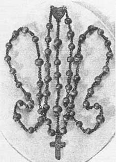 The Rosary used by St Bernadette during the apparitions