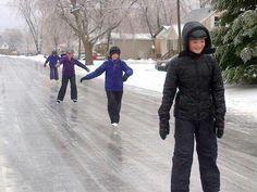 Januari 2016 schaatsen op straat