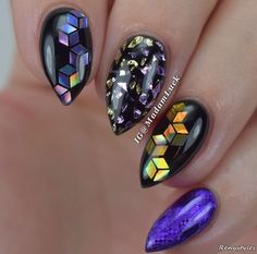 Black stiletto nails are not for everyone there is no doubt about that. In case you are not one of those who are easily scared let's have a closer look at these amazing nail designs here! Classy Nail Art, Trendy Nail Art, Spring Nail Trends, Nail Designs Spring, Nail Art Design 2017, Nail Art Designs, Toe Nail Art, Acrylic Nails, Nail Nail