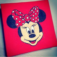 Minnie Mouse Mini Canvas. $30.00, via Etsy.