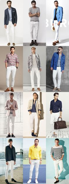 The Easy Ways To Wear Denim This Season: White Jeans Outfits Lookbook Inspiration