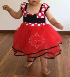 Hey, I found this really awesome Etsy listing at https://www.etsy.com/listing/262873803/red-baby-girl-minnie-mouse-costume