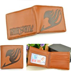 Good Collection Leather Anime Fairy Tail Cartoon Card Wallet Purse Clip Toy Gift