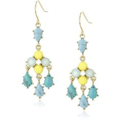 """Carolee """"The Blue Line"""" The Blue Line Chandelier Pierced Earrings ($34) ❤ liked on Polyvore featuring jewelry, earrings, carolee earrings, earrings jewelry, blue chandelier earrings, chandelier earrings and chandelier jewelry"""