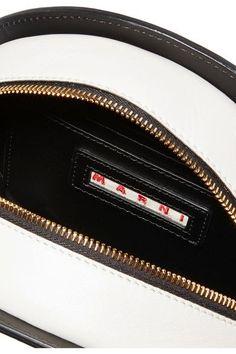 Marni - Tambourine Two-tone Leather Shoulder Bag - Black - one size