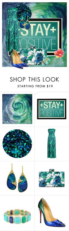 """Blue & Green"" by disneyfreak88 ❤ liked on Polyvore featuring Deborah Lippmann, Lauren Harper Collection, Monet and Christian Louboutin"