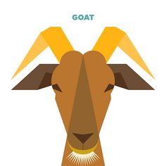 Currently browsing 50 Animals Illustrations Drew with Simple Shapes for your design inspiration Character Illustration, Illustration Art, Graphic Illustrations, Goat Logo, Abstract Geometric Art, Elements Of Art, Simple Shapes, Urban Art, Easy Drawings