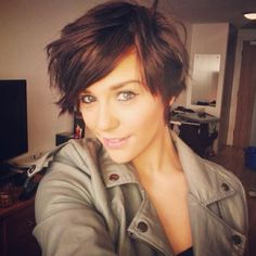 Great style especially for when growing out a pixie cut :)