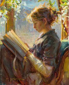 Daniel Gerhartz | American Painter | Ladies and Flowers