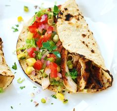 grilled chipotle chicken tacos.