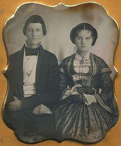Daguerreotype of an American couple, 1850s