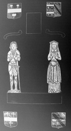 Suffolk, Little Waldingfield. Robert Appleton +1526 with wife Mary Mountney.