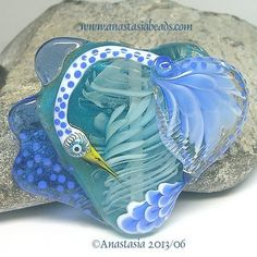 "Anastasia Lampwork Bead 1 Focal ""Stormbird"" SRA | eBay"