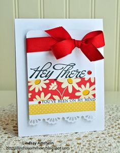 Hey There card...love the big red bow!!