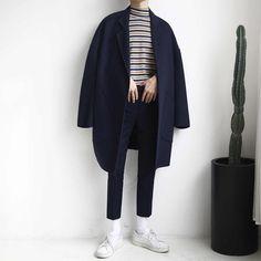 edgy korean fashion 3669 - New Site Streetwear Mode, Streetwear Fashion, Look Fashion, Winter Fashion, Fashion Outfits, Korean Fashion Men, Mens Fashion, Moda Indie, Rock Style Men