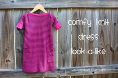 Re-purposing: Shirt to Dress with Boat Neck/Pockets | Make It and Love It
