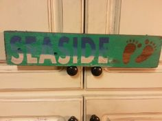 Hand painted sign made from wood pallets. Sells for $8 plus shipping.  Item #59