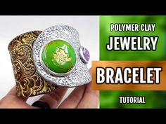 DIY Polymer Clay Bracelet with Faux Jade Gemstone. How to make unique bracelet. VIDEO Tutorial! - YouTube