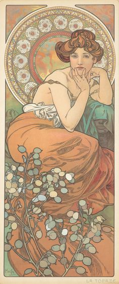 Precious Stones / La Topaze. 1902. Alphonse Mucha.