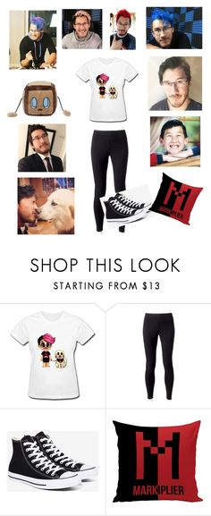 """""""Markiplier (don't judge cause I'm a fan)"""" by unicorn-donut ❤ liked on Polyvore featuring Jockey and Converse"""