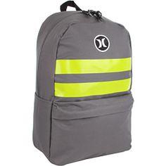 neon yellow backpack