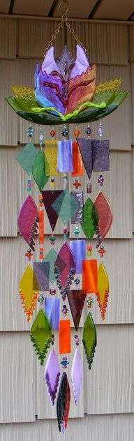 wind chimes in colors