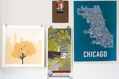 how to hang art without a frame- binder clips, bulldog clips, clipboards, and foam board with a plexi front
