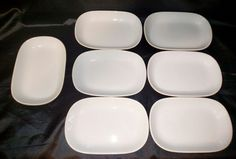Vintage  United Airlines Ceramic  Brown Rectangle Plates PL 005  SEVEN IN LOT   Collectibles, Transportation, Aviation   eBay!