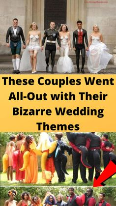 These #Couples Went All-Out #with Their Bizarre Wedding #Themes Bridal Nails, Bridal Makeup, Wtf Funny, Hilarious Memes, Funny Humor, Funny Facts, Short Hair Cuts, Short Hair Styles, Online Shopping Fails