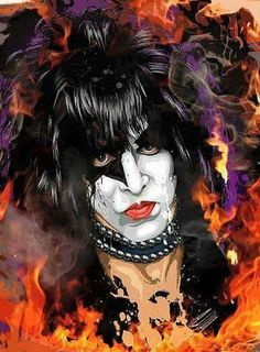 The greatest frontman of all time Paul Stanley Rock Band Posters, Rock Band Logos, Rock Poster, Rock N Roll Music, Rock And Roll, Kiss Album Covers, Looney Tunes Wallpaper, Kiss Music, Kiss Concert