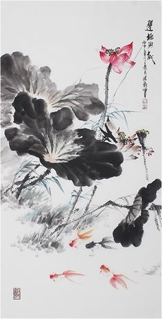 A Comprehensive Overview on Home Decoration - Modern Lotus Artwork, Lotus Painting, Japan Painting, Ink Painting, Japanese Watercolor, Japanese Art, Lotus Kunst, Chinese Painting Flowers, Violet Pastel