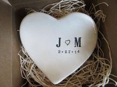 wedding ring dish,  ring holder, engagement, You and Me,  Black and White,  Gift Boxed, Made to Order on Etsy, $29.00