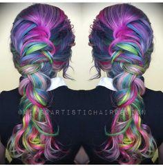 Love this multicolored braid
