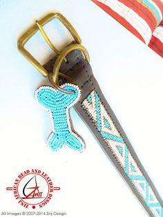 Hand Made Beaded Leather Dog Collar  KABAKA CREAM by ZinjDesign, $32.95